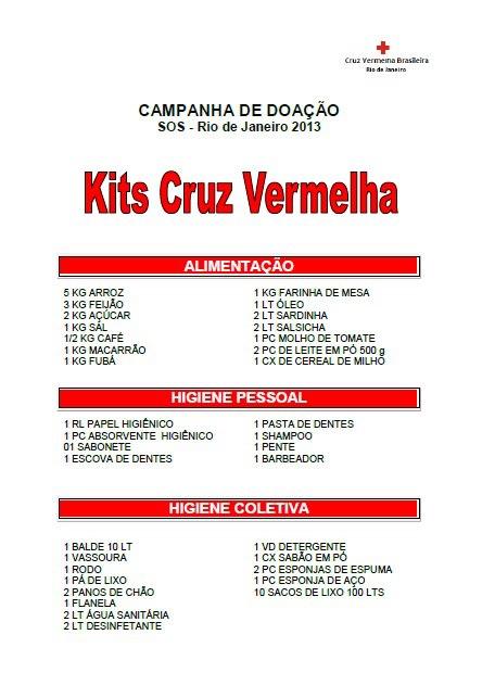 Kits Cruz Vermelha